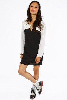 Reyna Contrast Shift Dress $44