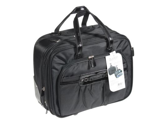 Buxton Leah Roller Overnight Laptop Carry-On Luggage (Black)