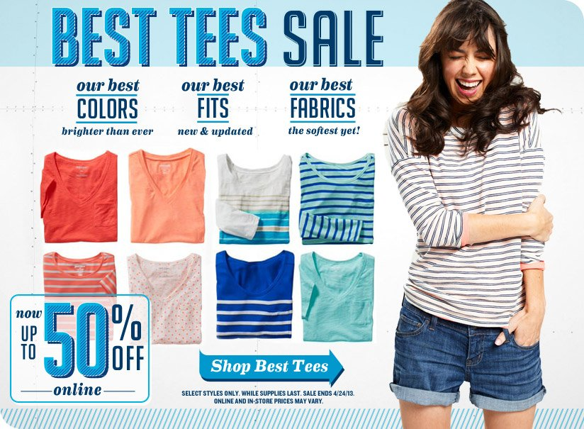 BEST TEES SALE | now UP TO 50% OFF online | Shop Best Tees