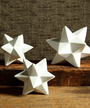 Ceramic Star- Set of 2 (small & large)