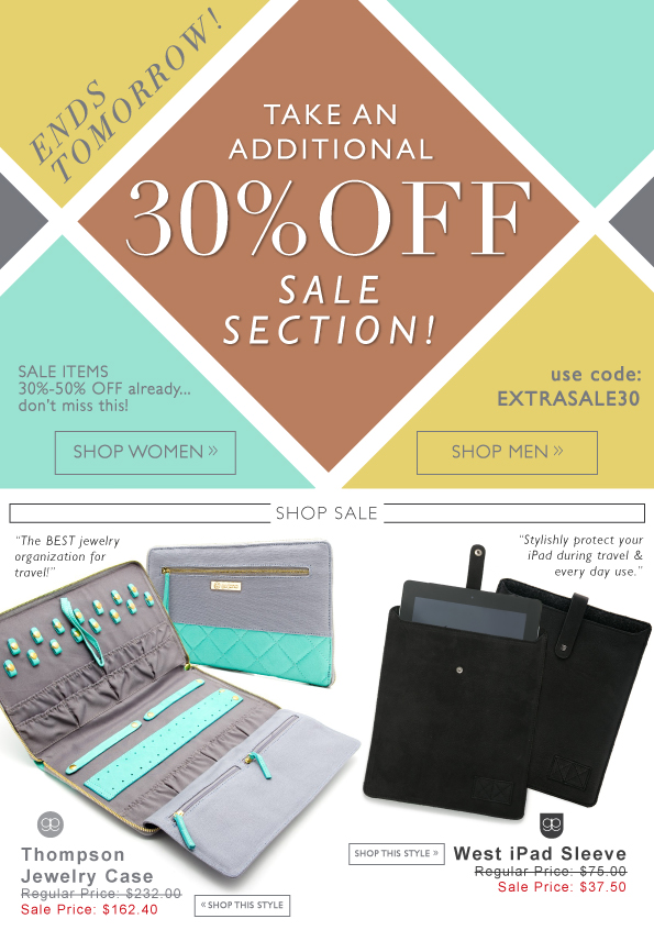 Take An Additional 30% Off