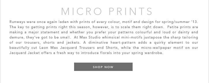 Maxstudio Micro Prints Trend