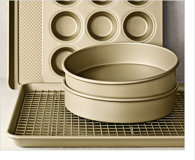 GOLDTOUCH(R) - Our commercial-quality, aluminized-steel pieces offer exceptional performance. -- SAVE 20% - EXCLUSIVE - Williams-Sonoma Goldtouch® Bakeware - SPECIAL PRICE $14.40 – $79.96 (REG. $18.00 – $99.95, 20% OFF REG. PRICE)