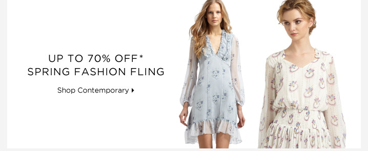 Up To 70% Off* Spring Fashion Fling