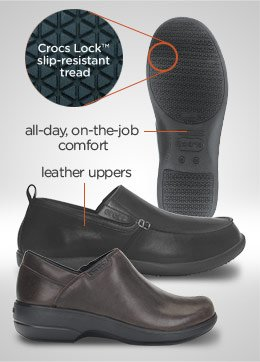 all-day, on-the-job comfort - leather uppers