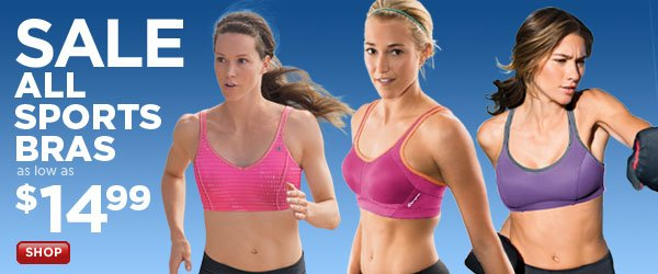 All Sports Bras on Sale: as low as $14.99