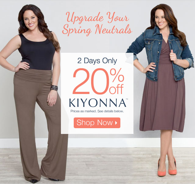 20% off Kiyonna
