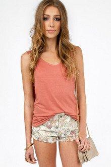 Floral Secrets Cutoff Shorts $29