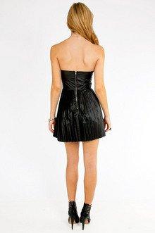 Miley Vegan Pleated Dress $32