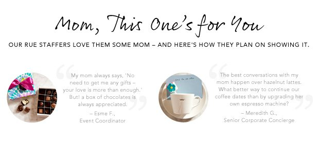 Mom, This One's for You.