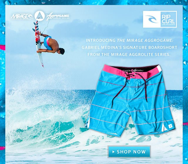 Introducing the Mirage Aggrogame: Gabriel Medina's signature boardshort from the Mirage Aggrolite Series.
