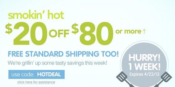 Hot Deal - $20 Off $80!