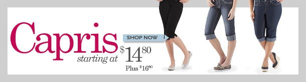 Capris! Starting at $14.80! SHOP NOW!