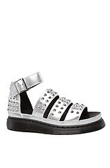 The Liza Studded Sandal in Silver
