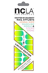 The NCLA x Nailing Hollywood Electric Gradient Nail Wrap