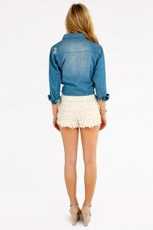Floral Crochet Shorts $26