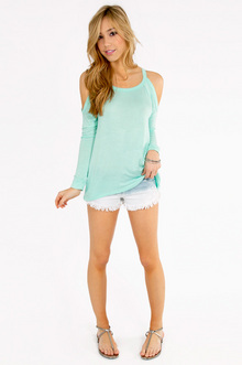 Caseylin Cold Shoulder Sweater $23
