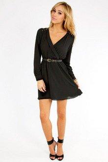 Chip Off Your Shoulder Wrap Dress $42