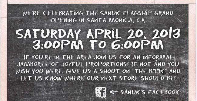 SATURDAY APRIL 20, 2013 3:00PM TO 6:00PM