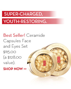 SUPER-CHARGED, YOUTH-RESTORING. Best Seller! Ceramide Capsules Face and Eyes Set $115 (a $128.00 value). SHOP NOW.