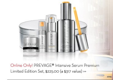 Online Only! PREVAGE® Intensive Serum Premium. Limited Edition Set $225.00 (a $317 value).