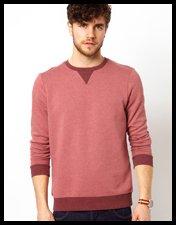 ASOS Sweatshirt With Contrast Ribs