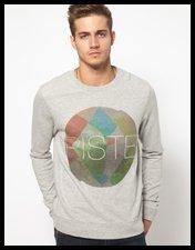 ASOS Sweatshirt With Piste Print