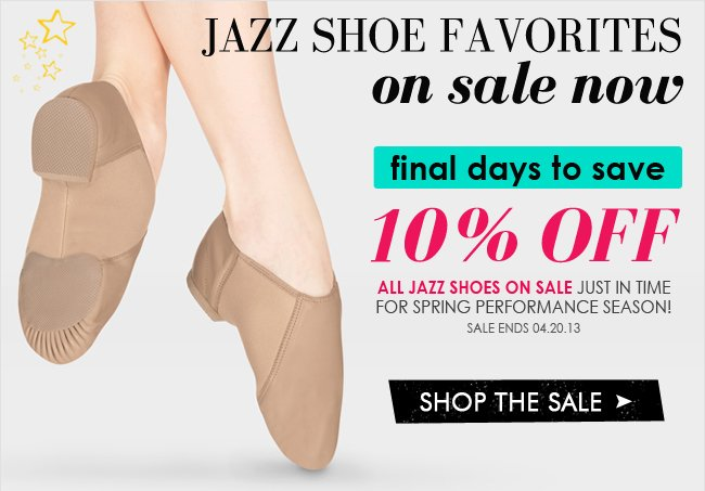 Final chance to shop all jazz shoes on sale now.