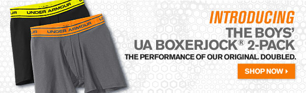 INTRODUCING THE BOYS UA BOXER JOCK® 2-PACK