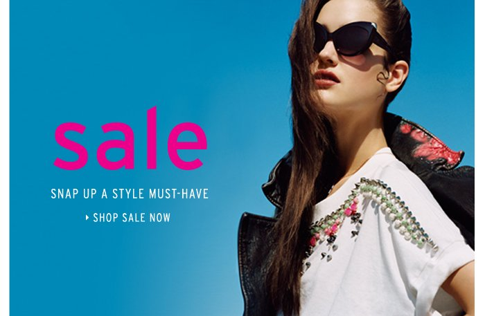 SALE - Snap up a style must-have - Shop now