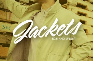 Jackets: $35 and Under