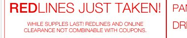 NEW Markdowns on Redlines! Shop Now!