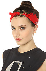 The Mercutio Bandana Headpiece in Red