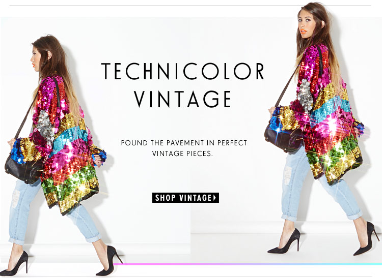 Technicolor Vintage: Pound the pavement in perfect vintage pieces
