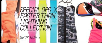 Shop Faster Than Lightning x Special Ops Collection