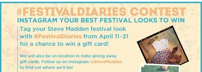 Enter our #FestivalDiaries Contest for a chance to win gift cards!