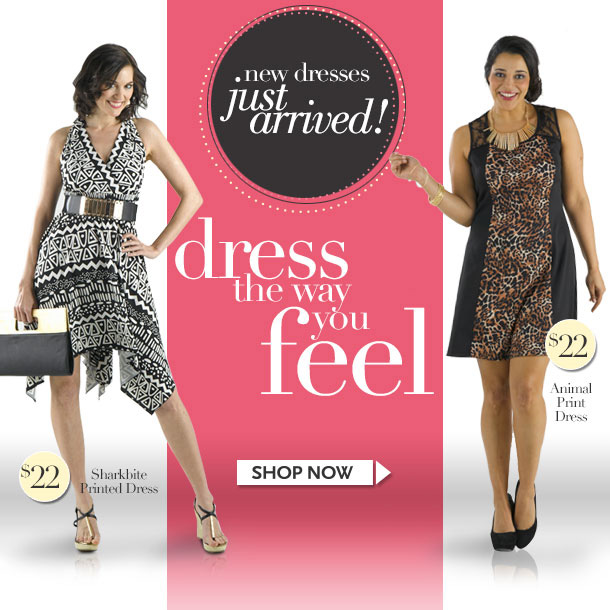 NEW DRESSES JUST ARRIVED! Dress the Way You Feel! Sharkbite Printed Dress - Animal Print Dress - SHOP NOW!