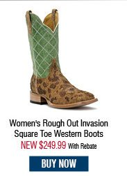 Cinch Edge Women's Rough Out Invasion Square Toe Western Boots