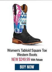Cinch Edge Women's Tabloid Square Toe Western Boots
