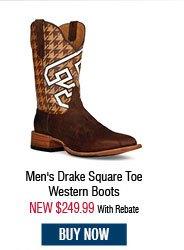 Cinch Edge Men's Drake Square Toe Western Boots