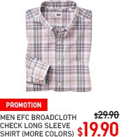 MEN EXTRA FINE BROADCLOTH CHECK SHIRT
