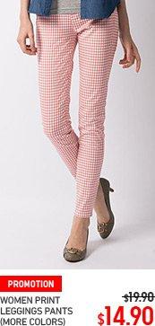 WOMEN PRINT LEGGINGS PANTS