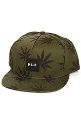 The Plantlife Box Logo Snapback in Olive