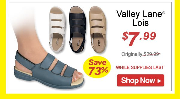 Valley Lane® Lois - Save 73% - Now Only $7.99 Limited Time Offer