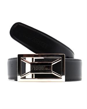 Gianfranco Ferre Reversible Textured Genuine Leather Belt