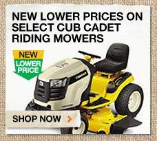 Select Cub Cadet Riding Mowers