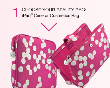1 | CHOOSE YOUR BEAUTY BAG: iPad Case or Cosmetics Bag