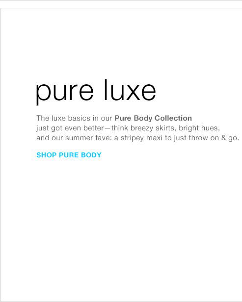 pure luxe | SHOP PURE BODY