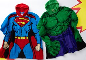 Superheroes, Angry Birds & More: Boys' Hooded Blankets