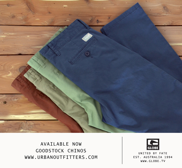 Available now goodstock chinos www.urbanoutfitters.com